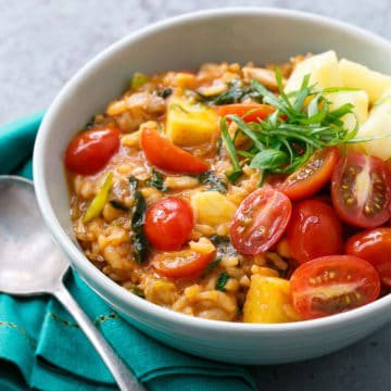 Thai Red Curry Risotto
